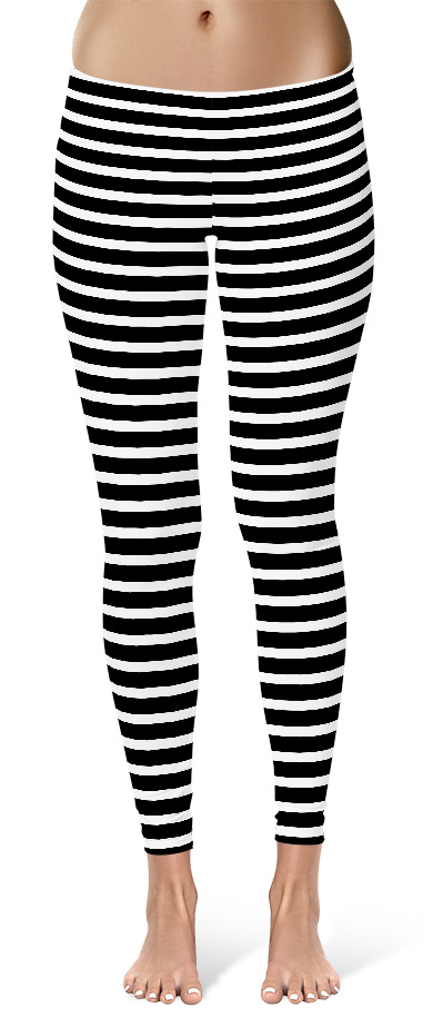 Black And White Striped Leggings 171 I Need Leggings