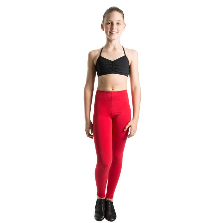 e1b5f0738866b Red Girls Leggings Red Leggings for Girls
