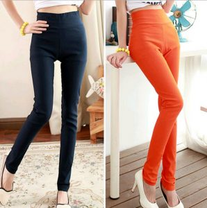 High Waisted Cotton Leggings Pictures