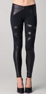 Leather Stripe Leggings Images