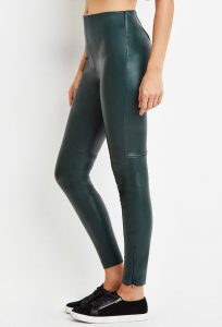 Pictures of Green Leather Leggings