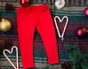 Pictures of Red Baby Leggings