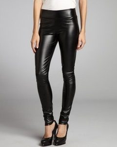 Faux Leather Stretch Leggings