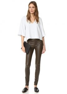 Images of Stretch Leather Leggings